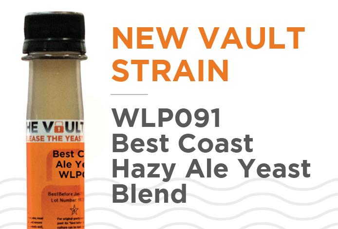 WLP091 Best Coast Hazy Ale Yeast Blend