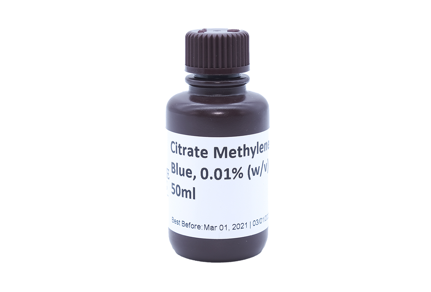 Citrate Methylene Blue, 0.01% (w/v) 50mL